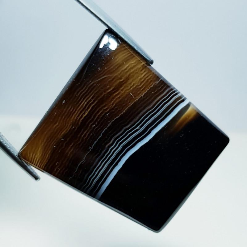47.46 ct Natural Black Lace Agate Fancy Cabochon  Gemstone