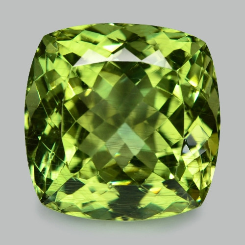 18.40 Cts Un Heated Natural Green Apatite Loose Gemstone