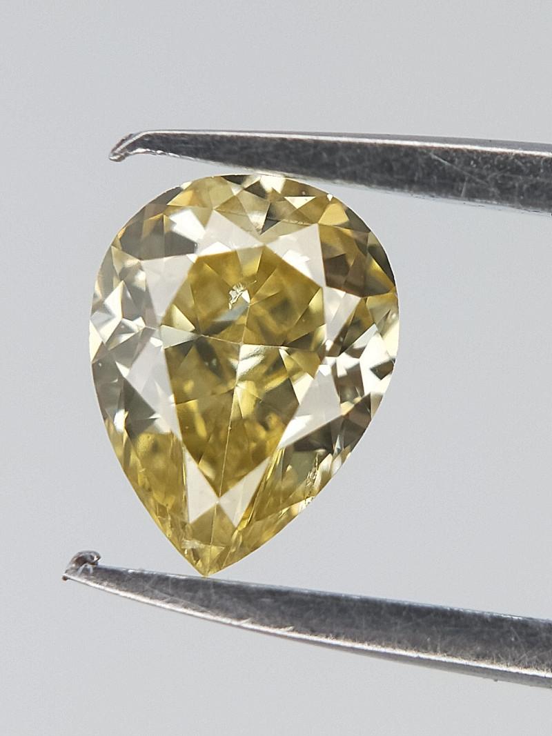 0.20 CTS , Pear Diamond , Light Yellow Diamond
