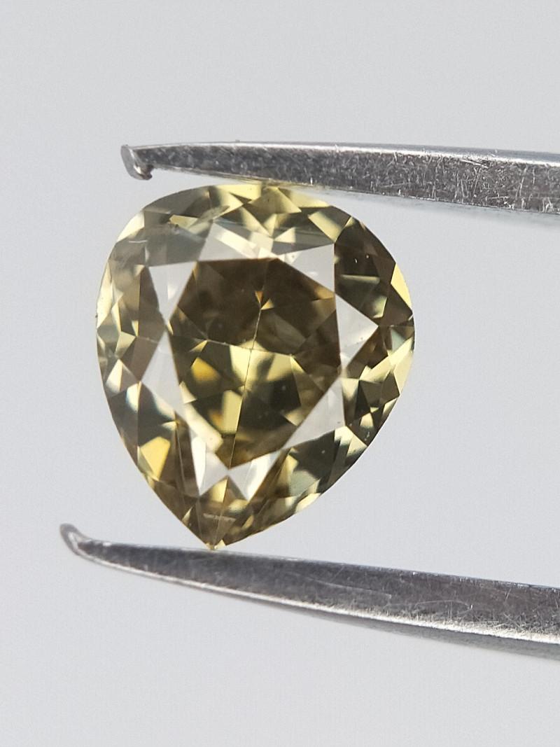 0.21 CTS , Fancy Dark Color diamond , Pear Brilliant cut