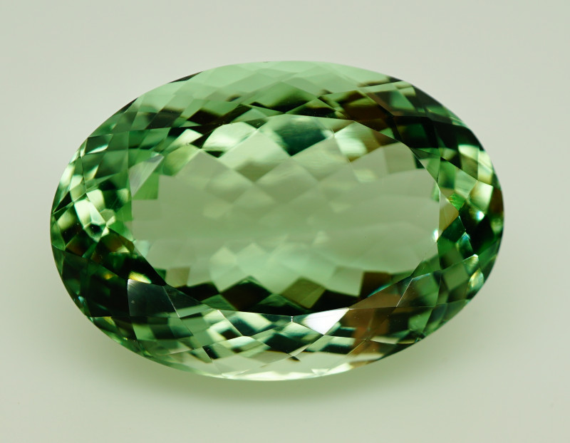 28.68 ct. 100% Natural Earth Mined Green Prasiolite – IGE Certificate