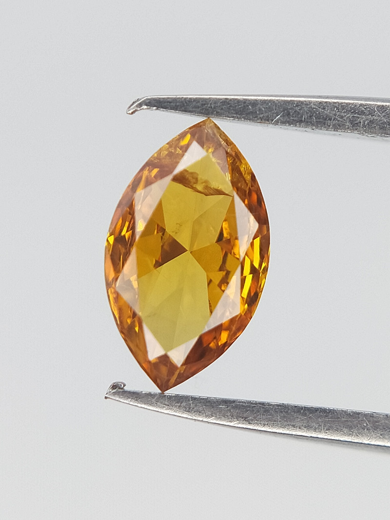 0.16 CT , Extremely rare colored Diamond , Marquise Brilliant Cut