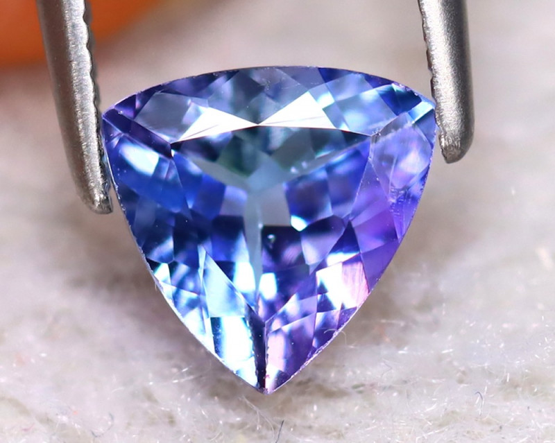 Tanzanite 1.01Ct Natural VVS Purplish Blue Tanzanite EA0715/D3