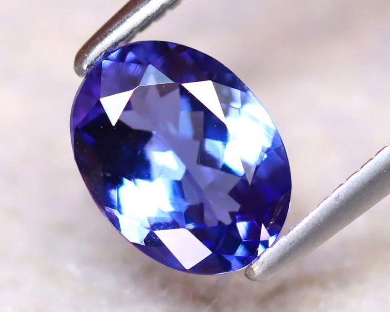 Tanzanite 1.35Ct Natural VVS Purplish Blue Tanzanite ER272/D4