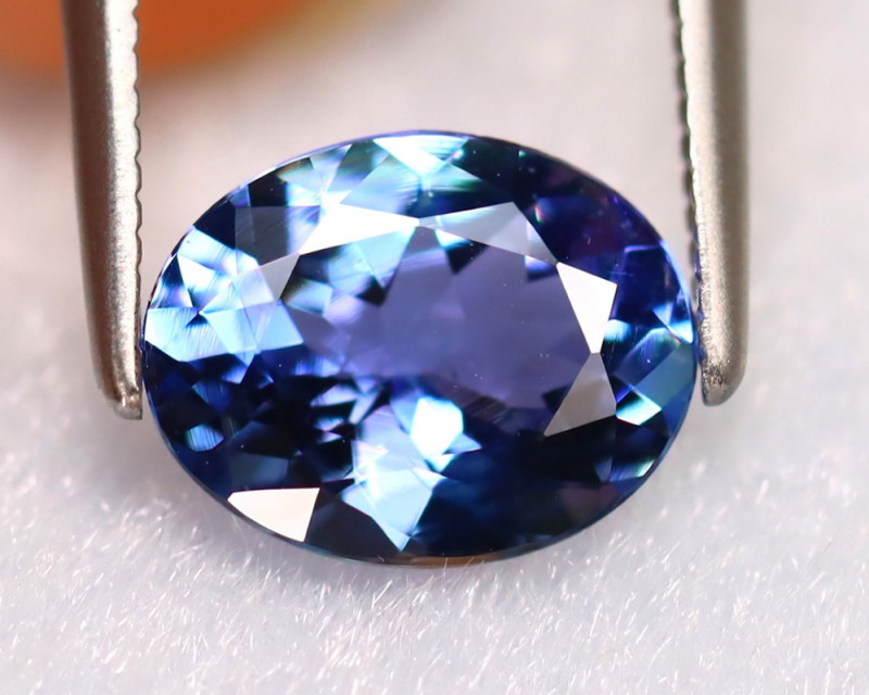 Tanzanite 1.66Ct Natural VVS Purplish Blue Tanzanite ER238/D4