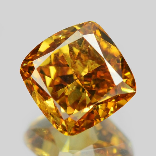 0.46 Cts Untreated Fancy Vivid Orange Yellow Color Natural Loose Diamond