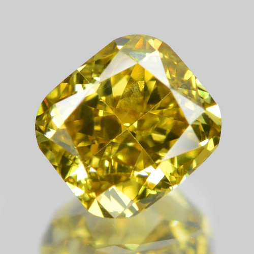 0.40 Cts Untreated Fancy Yellowish Green  Color Natural Loose Diamond