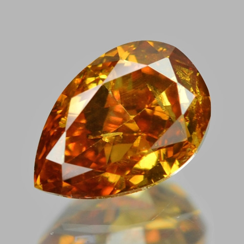 *NoReserve* Diamond 0.19 Cts Untreated Fancy Vivid Yellow Orange Color Natu