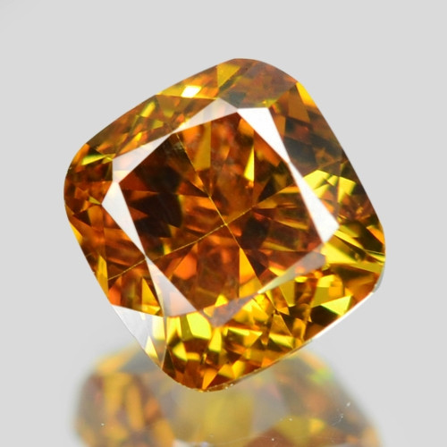 0.39 Cts Untreated Fancy Yellow Orange Color Natural Loose Diamond