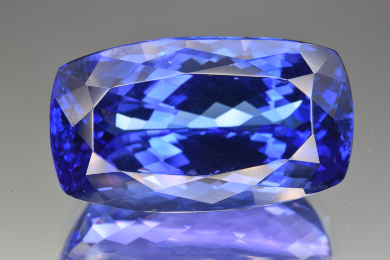 GIA Certified Natural Tanzanite 57.98 Cts Collector's Grade Faceted Gemston
