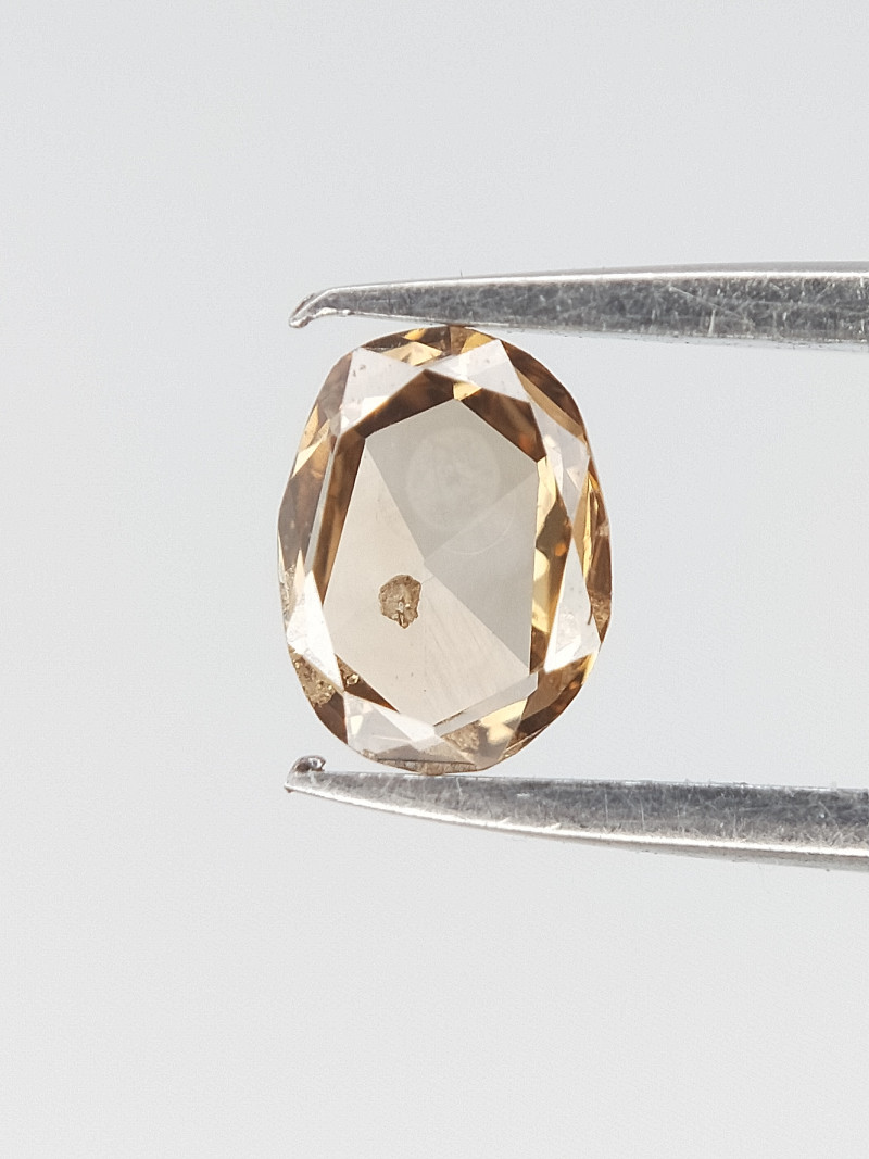 0.13 CTS , Oval Rose cut Diamond , Natural Light Color Diamond