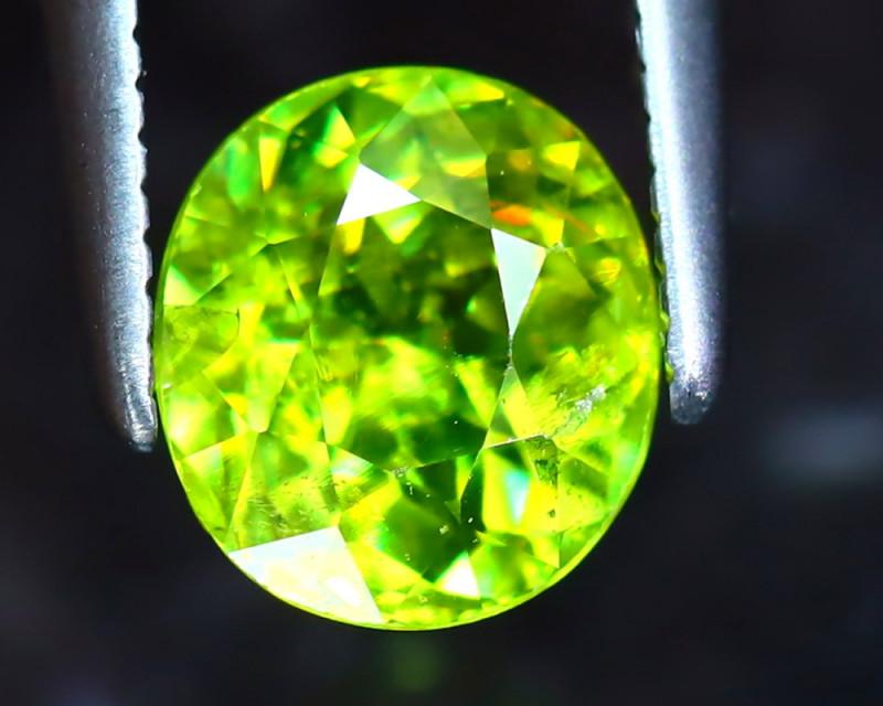 Sphene 1.22Ct Natural Rainbow Flash Green Sphene DR339/S41