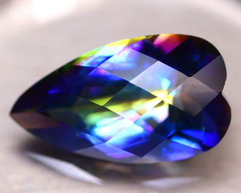 Mystic Topaz 30.50Ct Natural IF Mystic Rainbow Topaz DR168/A46