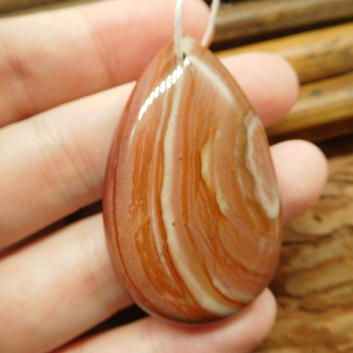 Natural gemstone succor jasper pendant (G2196)