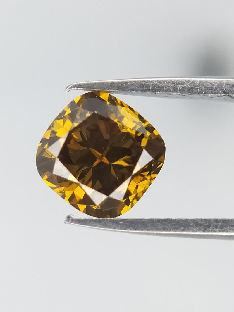 0.52 CT , Brown / Yellow / Green Diamond , Sparkling Diamond