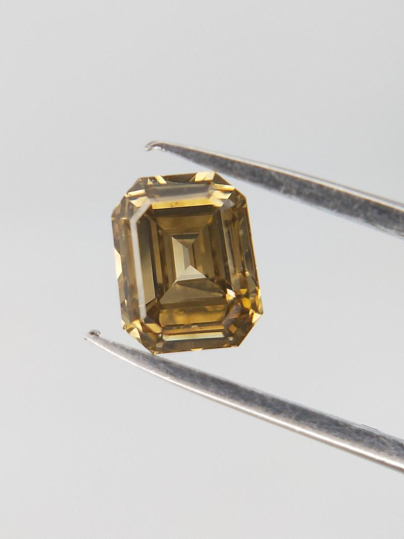 0.45 CTS , Light Champagne Color Diamond , Emerald Brilliant Cut