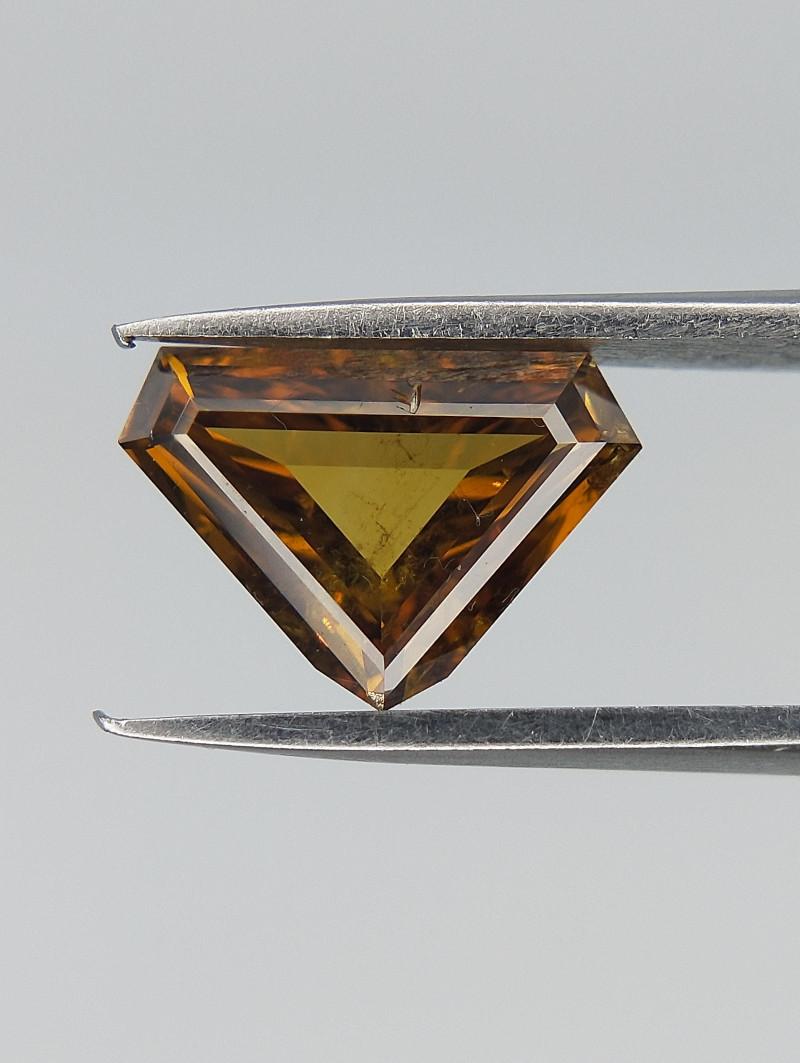 0.61 CTS , Brownish Yellow Diamond , Natural Color Diamond