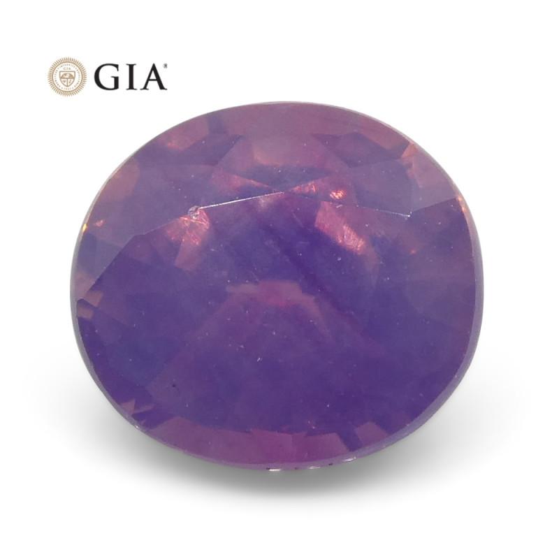 1.11ct Oval Purple-Pink Sapphire GIA Certified Pakistan / Kashmir Unheated