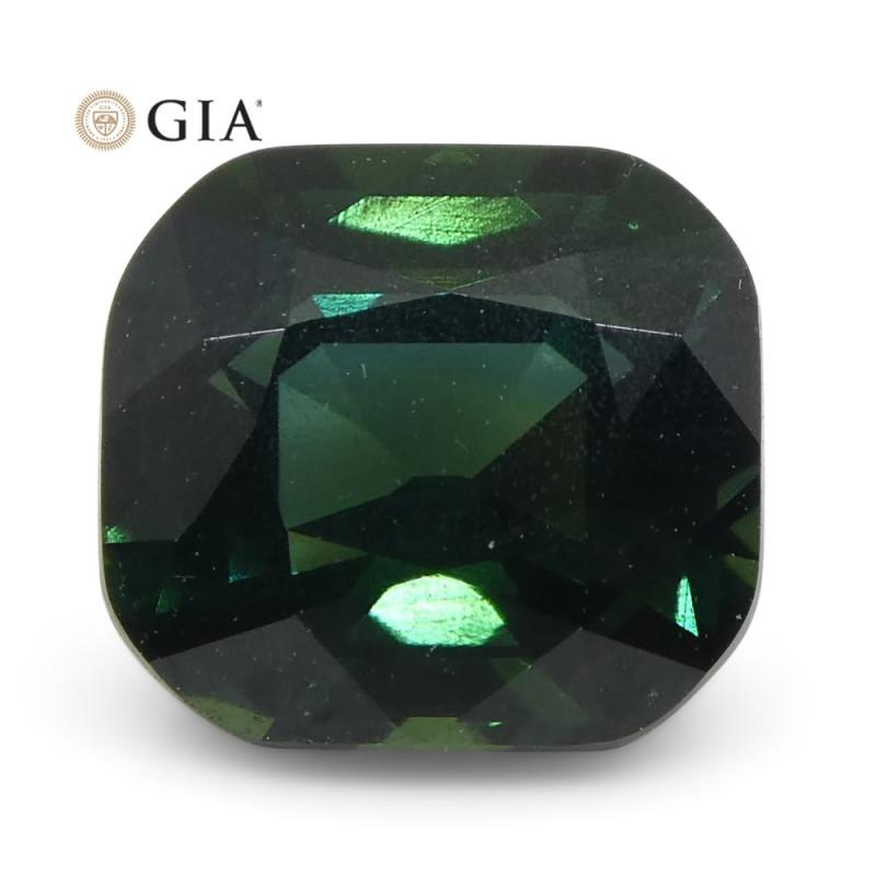 1.51ct Cushion Green-Blue Sapphire GIA Certified Unheated