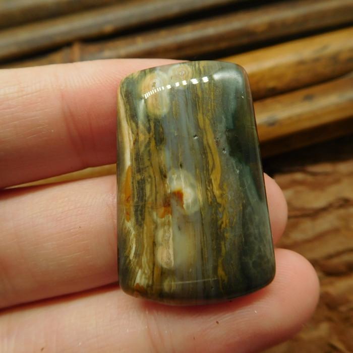 Ocean jasper cabochon bead (G2239)