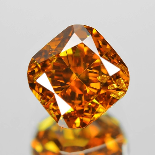 0.47 Cts Untreated Fancy Yellowish Orange Color Natural Loose Diamond