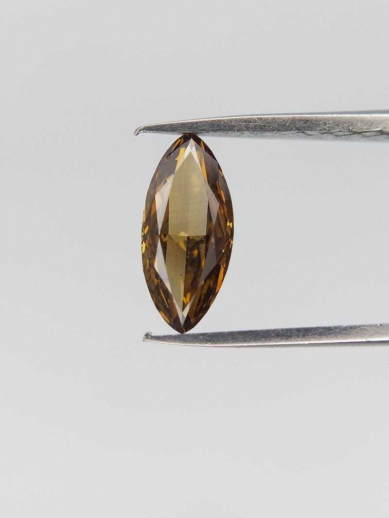 0.48 CTS , Deep Champagne Diamond , Marquise Brilliant Cut