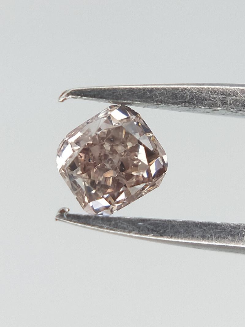 0.11 cts , Slight Brown Pink Diamond , Natural Brilliant cut