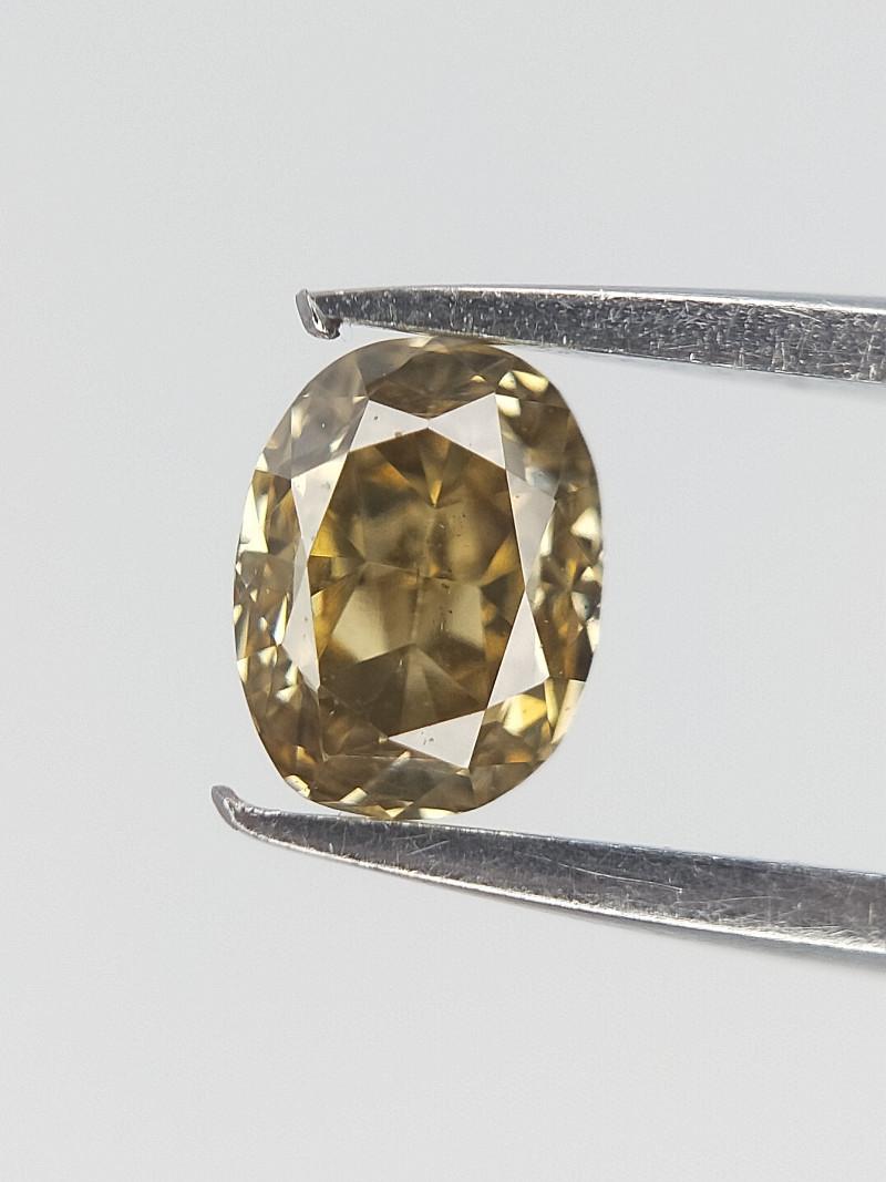 0.17 cts , Rare Green Diamond , Clean Diamond