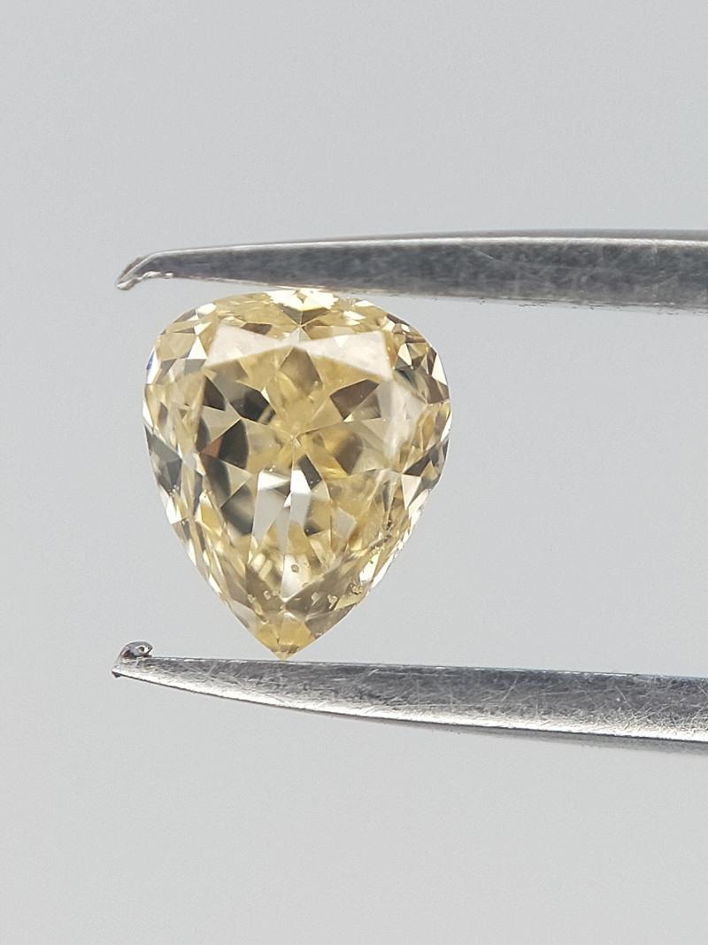 0.15 CTS , Natural yellow Diamond , Pear Brilliant cut