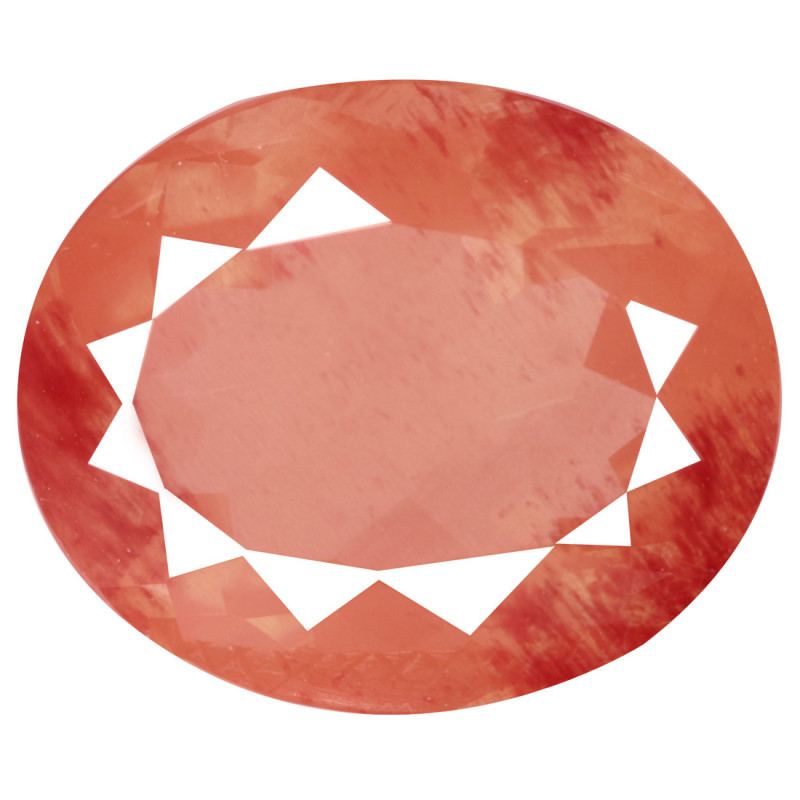 4.10 Cts Untreated Very Rare Natural Red Andesine Gemstone