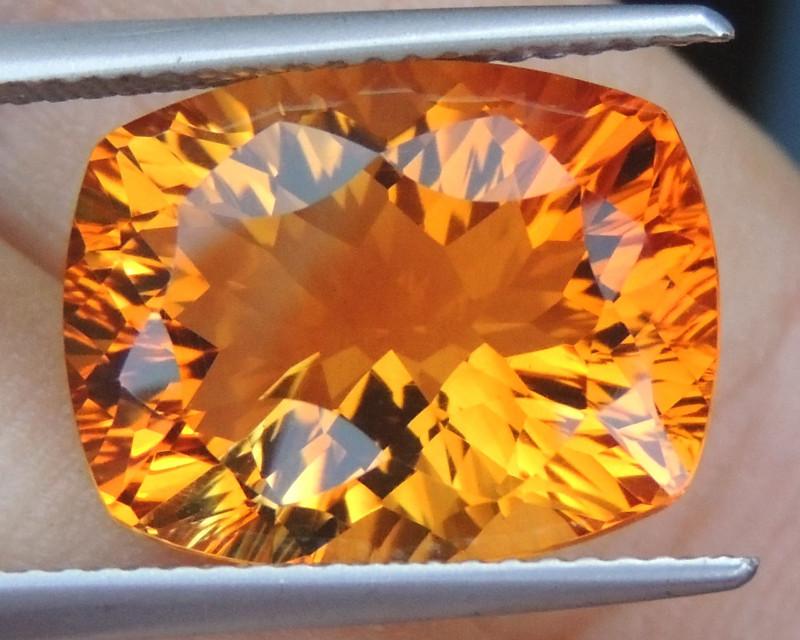 8.40cts *Sunkist Orange* Citrine, Top  Cut