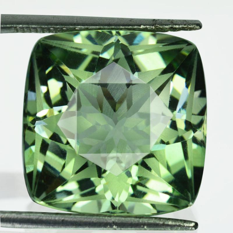 ~Custom~ 21.84 Cts Natural Green Prasiolite / Amethyst Brazil