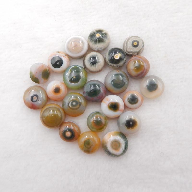 62cts Ocean jasper cabochons, ocean jasper, hand cut gemstone H409