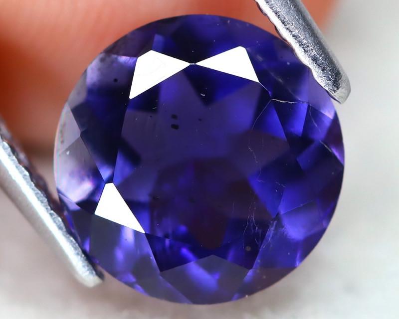 Iolite 1.74Ct Round Cut Natural Purplish Blue Color Iolite C1207