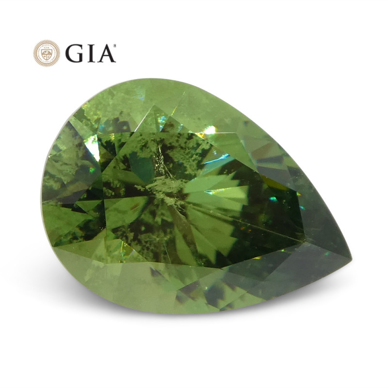 2.08ct Pear Demantoid Garnet GIA Certified