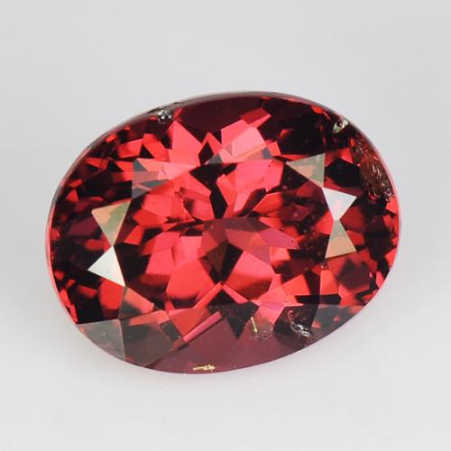 1.18 Cts Unheated Natural Cherry Pinkish Red Rhodolite Garnet Gemstone