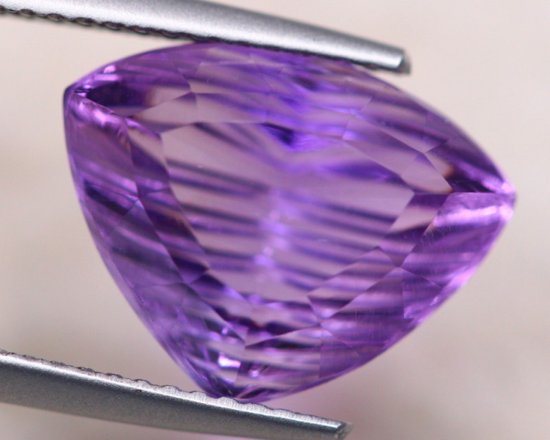 5.52ct Natural Purple Amethyst Fancy Cut Lot V7823