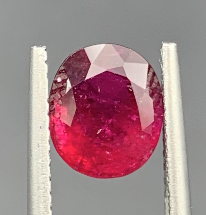 1.74 Carat Rubellite Tourmaline Gemstone