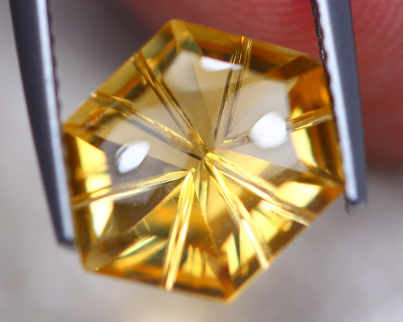 3.15Ct Natural Yellow Citrine Fancy Cut Lot LZ6961