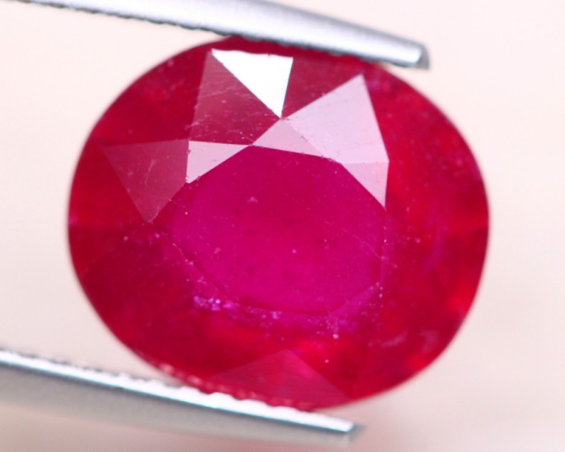 5.34Ct Blood Red Color Ruby Oval Cut Lot LZ6964