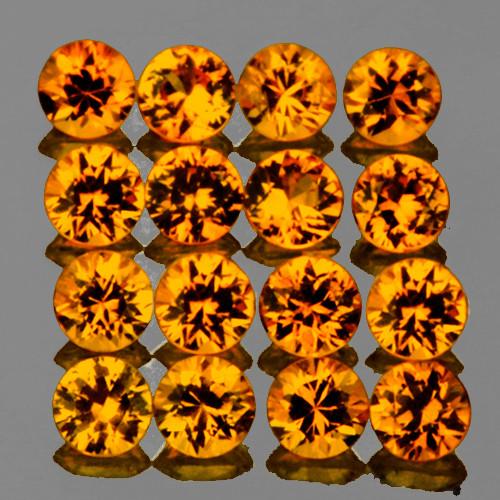 1.90 mm Round 25 pcs Golden Orange Sapphire [VVS}