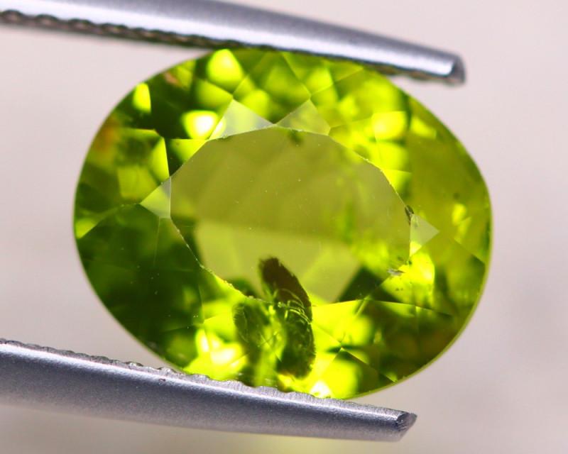 3.70ct Natural Green Peridot Oval Cut Lot V7853