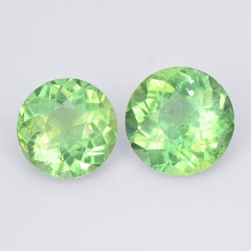 2.12 Cts 2 Pcs Un Heated Natural Green Apatite Loose Gemstone