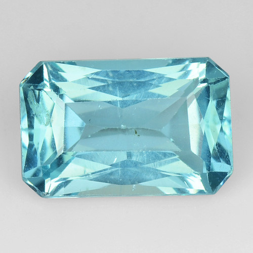 1.19 Cts Un Heated Natural Blue Apatite Loose Gemstone