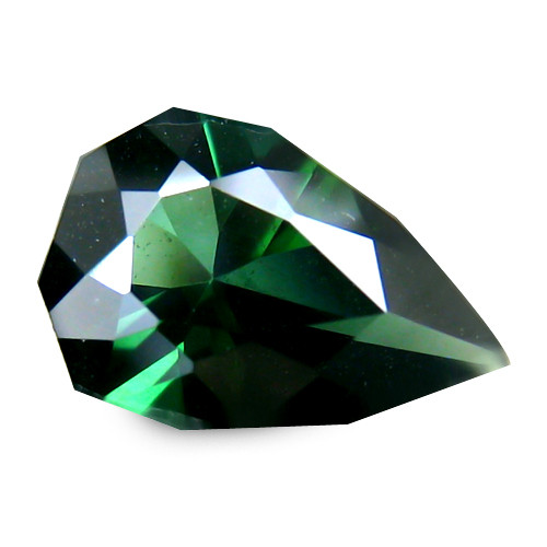 Adorable Green Africa Tourmaline 0.74 Cts Geometric Cut Pear BGC113