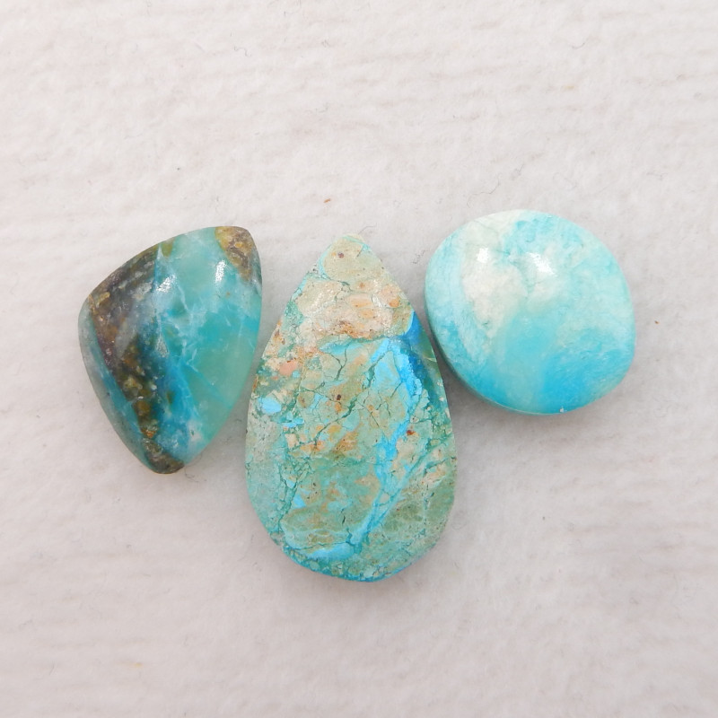 Pure Blue 10cts Blue Opal Cabochon, October Birthstone, Blue Opal H462
