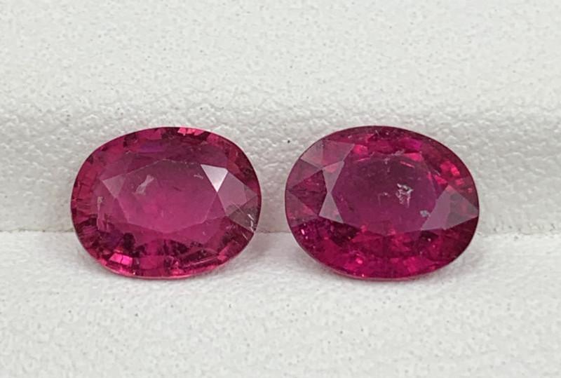 2.46 Carats Rubellite Tourmaline Gemstones