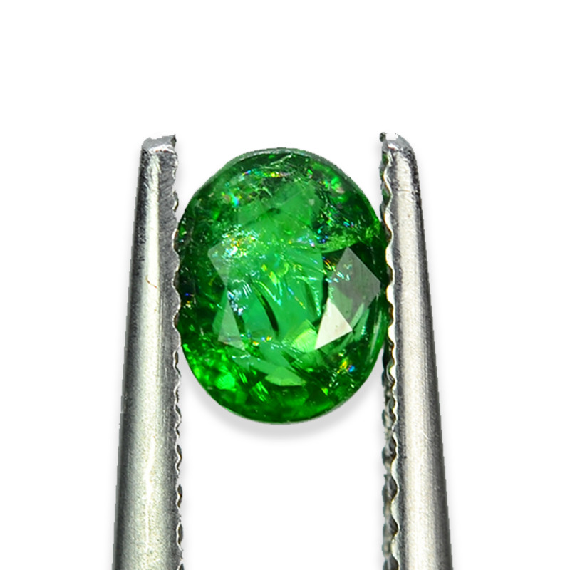 0.719 Cts Beautiful Lustrous Natural Green Garnet