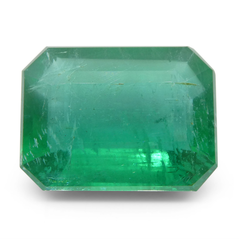 8.64ct Octagonal / Emerald Cut Emerald