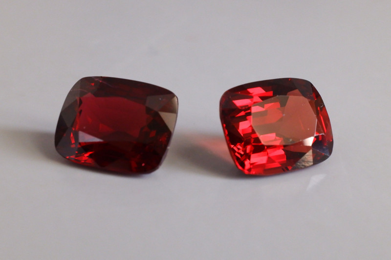 8.67ctw Burmese Red Spinel, Pair